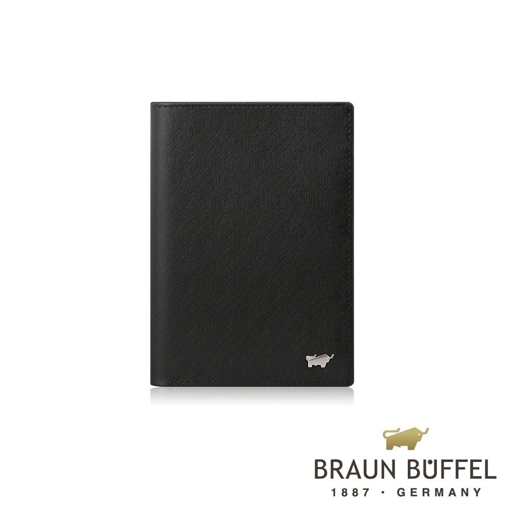 【BRAUN BUFFEL】德國小金牛 HOMME-M系列3卡護照夾(黯黑)BF306-500-BK