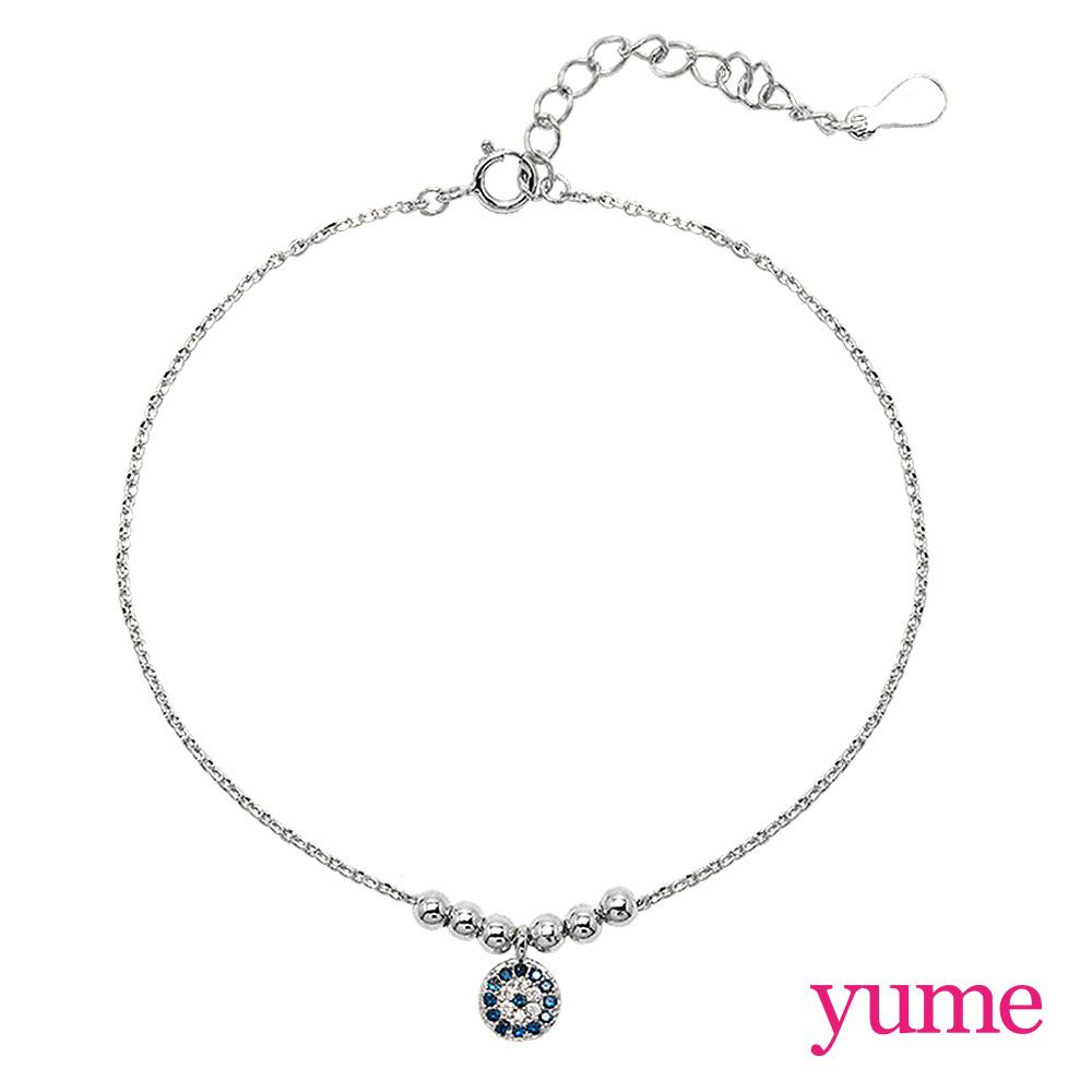 【YUME】Girls 閨蜜系列 - 惡魔之眼手鍊/腳鍊(白K金)