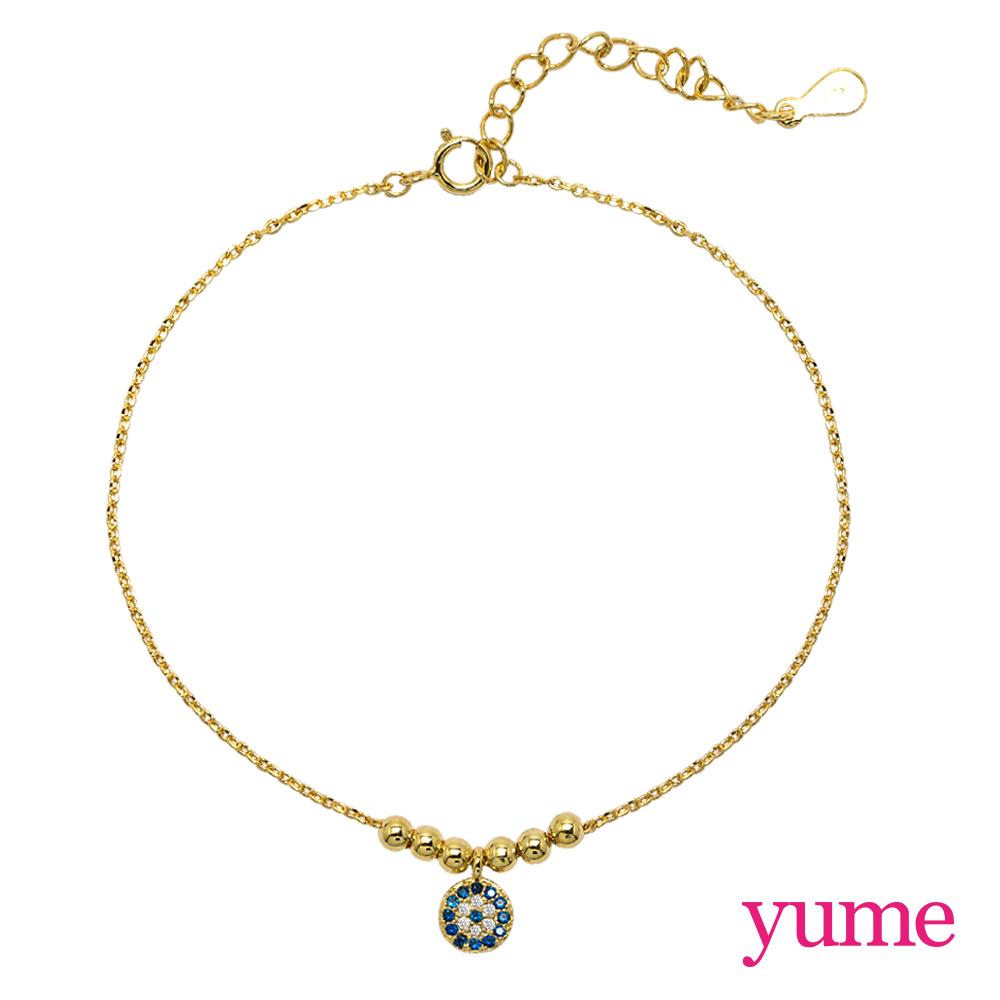 【YUME】Girls 閨蜜系列 - 惡魔之眼手鍊/腳鍊(黃K金)