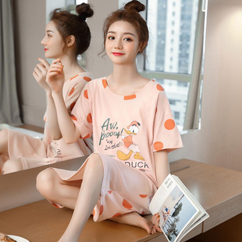 【Wonderland】刺繡小花100%縲縈居家休閒衣褲2套組(XL)