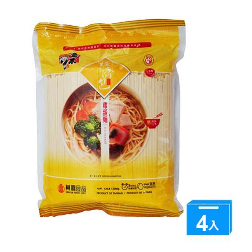 五木經濟包雞蛋麵條2000G*4