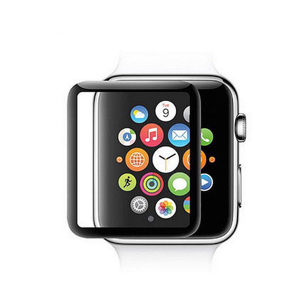蘋果手錶Apple Watch 3D曲面鋼化玻璃保護膜保護貼42mm