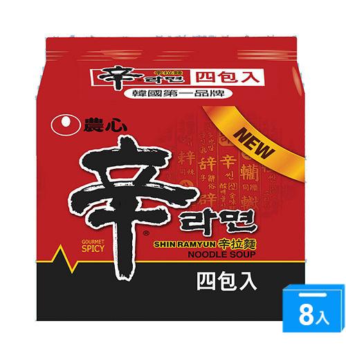 韓國農心辛拉麵120g*4*8