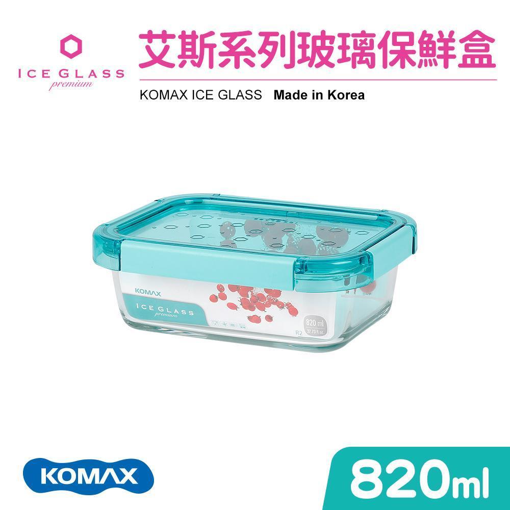 【KOMAX】艾斯藍色長型保鮮盒-820ml