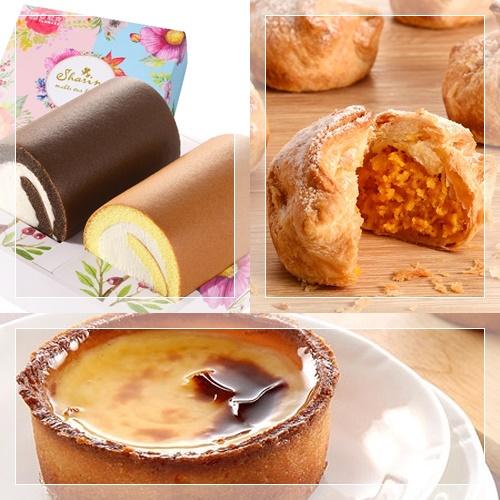 【亞尼克菓子工房】-生乳雙捲禮盒(原味+特黑)+地瓜千層酥送德國布丁1顆