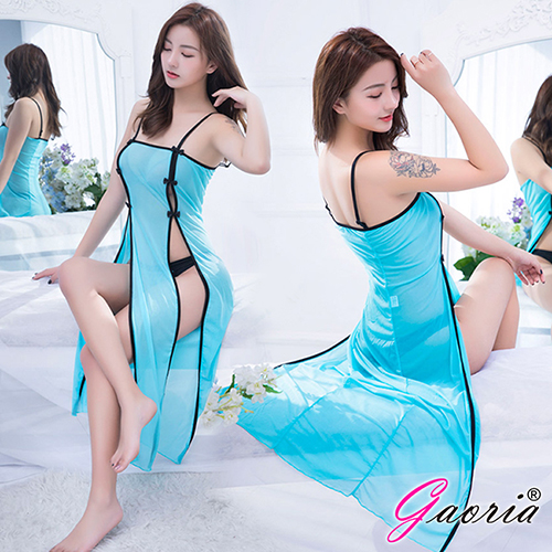 【Gaoria】 羅曼蒂克 性感誘惑長裙 性感情趣睡衣 綠