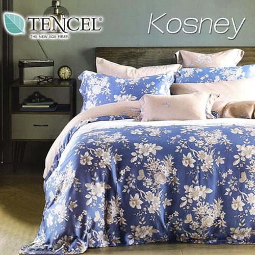 《KOSNEY 蘭之夢》特大100%天絲TENCEL四件式兩用被床包組