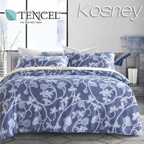《KOSNEY 卡爾》特大100%天絲TENCEL四件式兩用被床包組