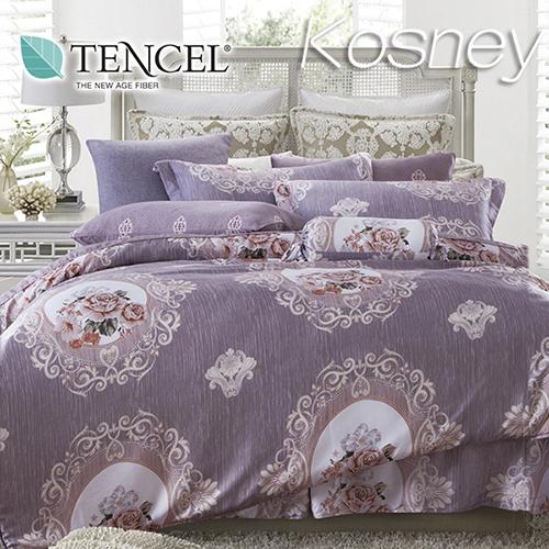 《KOSNEY 暗香》特大100%天絲TENCEL四件式兩用被床包組