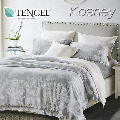 《KOSNEY 雙城》特大100%天絲TENCEL四件式兩用被床包組