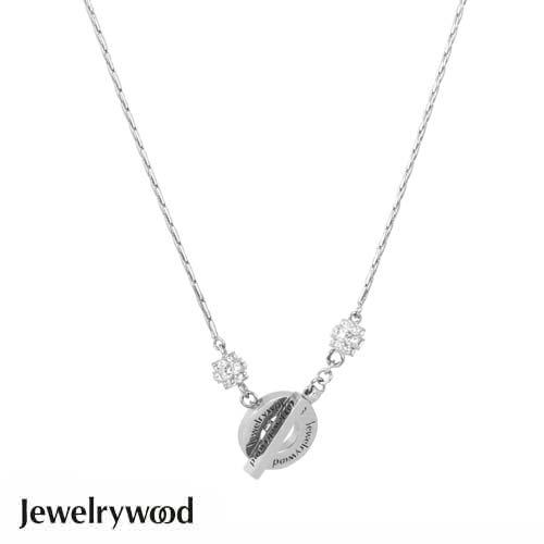 Jewelrywood金色年代Toggle項鍊(白金)
