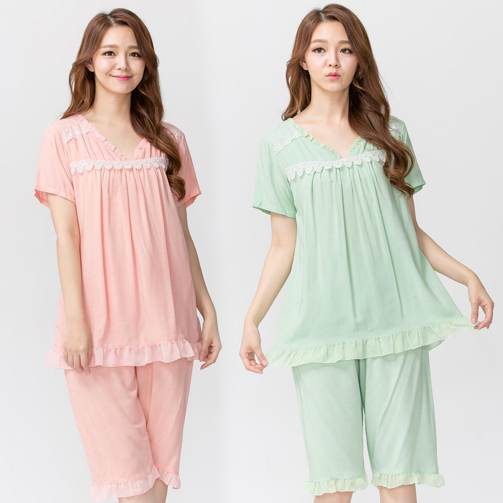 【Wonderland】細緻雅柔居家休閒衣褲2套組(XL)