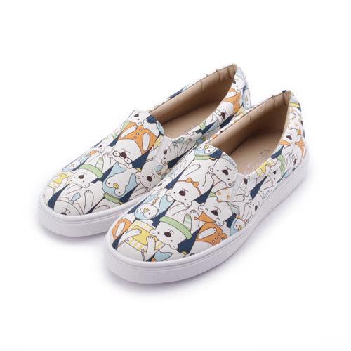 母子鱷魚 企鵝北極熊帆布鞋 白 女鞋 鞋全家福
