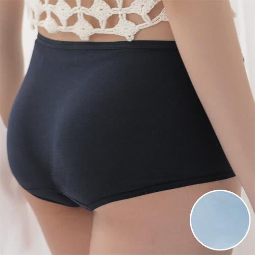 華歌爾-海藻冰涼M-LL中低腰平口內褲(天空藍)涼感親膚-包臀透氣