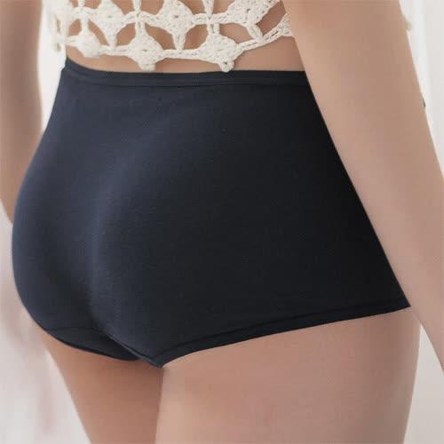 華歌爾-海藻冰涼M-LL中低腰平口內褲(深海藍)涼感親膚-包臀透氣