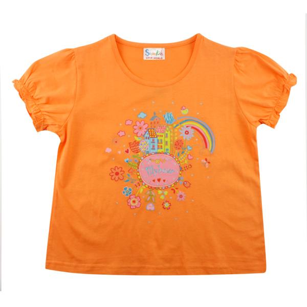 【愛的世界】SUPERKIDS 純棉圓領愛幻想女孩短袖上衣/10歲/S號-台灣製-