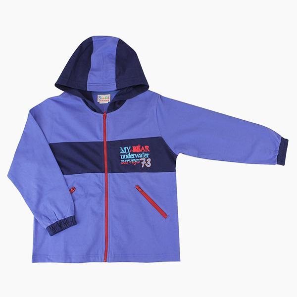【愛的世界】SUPERKIDS 純棉渡假勝地連帽長袖薄外套/6~8歲-台灣製-