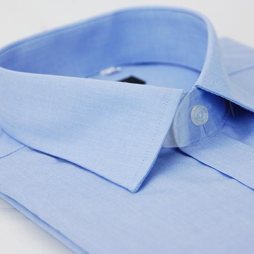 【金安德森】藍色基本款窄版短袖襯衫