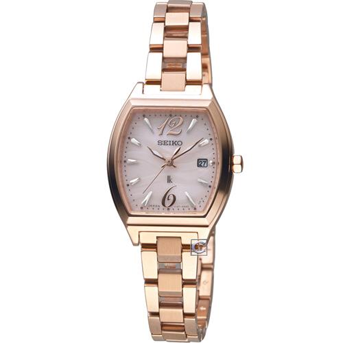 SEIKO精工LUKIA波光時尚太陽能腕錶 V137-0CE0V  SUT356J1