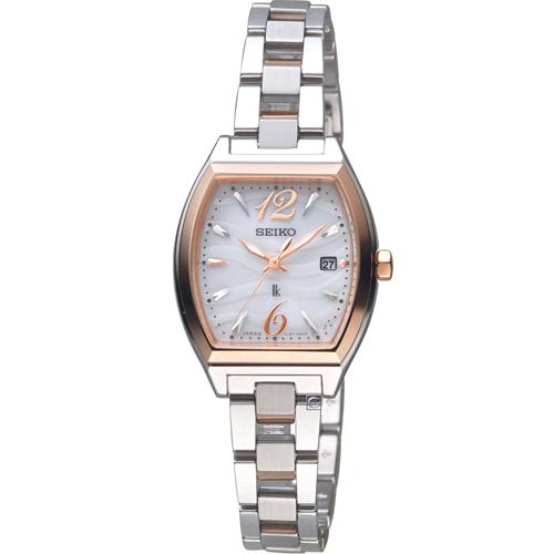 SEIKO 精工 LUKIA 波光時尚太陽能腕錶 V137-0CE0C SUT358J1