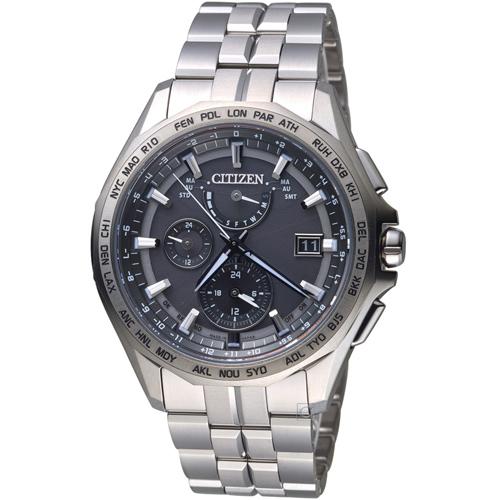 CITIZEN 星辰衝鋒時機電波鈦金屬腕錶 AT9091-51H