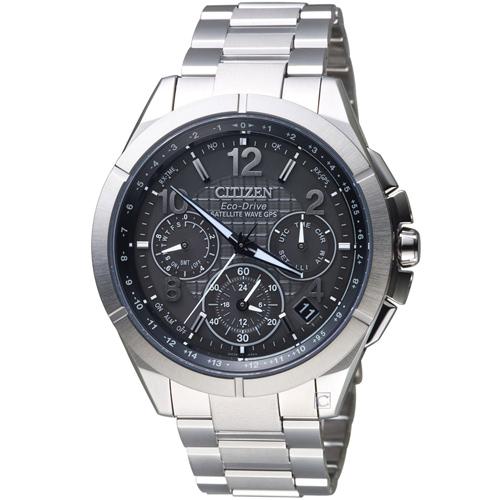 CITIZEN 星辰衝鋒時機GPS衛星對時鈦金屬腕錶 CC9070-56H