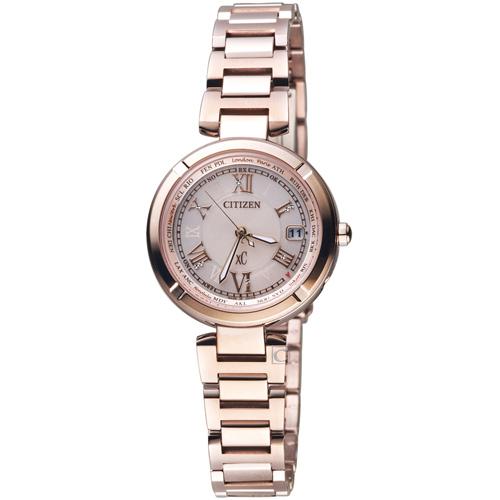 CITIZEN 星辰xC系列愛戀羅馬電波鈦金屬腕錶 EC1115-59W