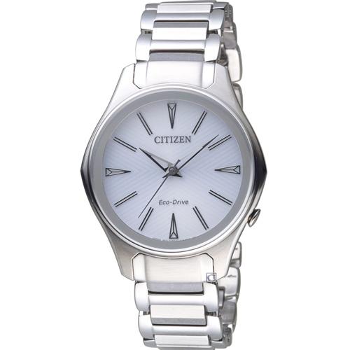 CITIZEN 星辰幾何線條時尚Eco-Drive腕錶 EM0597-80A