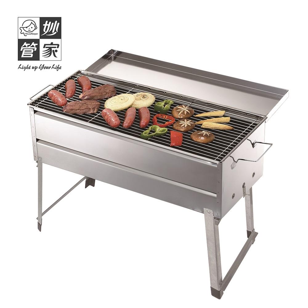 【妙管家】香腸伯折疊式不鏽鋼烤肉爐