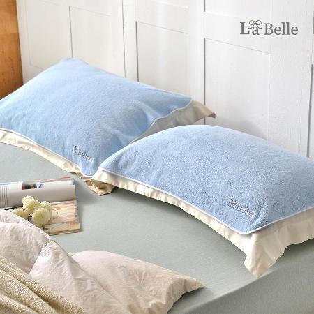 (2入組)La Belle 經典刺繡舒柔枕巾