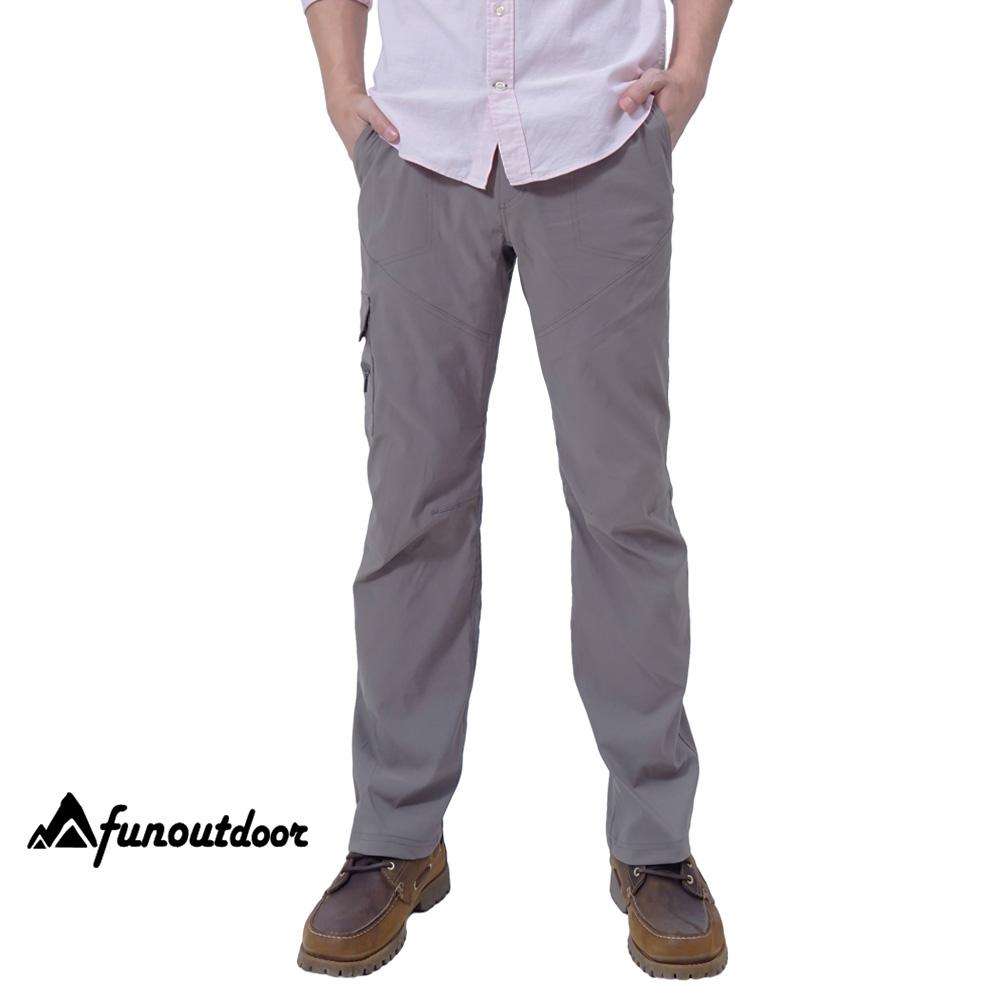 【戶外趣】德國原創 男多口袋防潑水科技輕薄超彈快乾萊卡UPF50+防曬長褲(HPM001S 卡其)