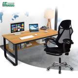 IHouse-DIY 可尼亞 超值加厚耐用書桌+電競功能椅二件組