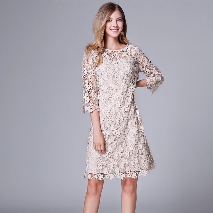 Olivia奧莉精品 希臘女神復古鏤空蕾絲洋裝 L~5XL洋裝 連身裙 禮服 伴娘服 媽媽裝