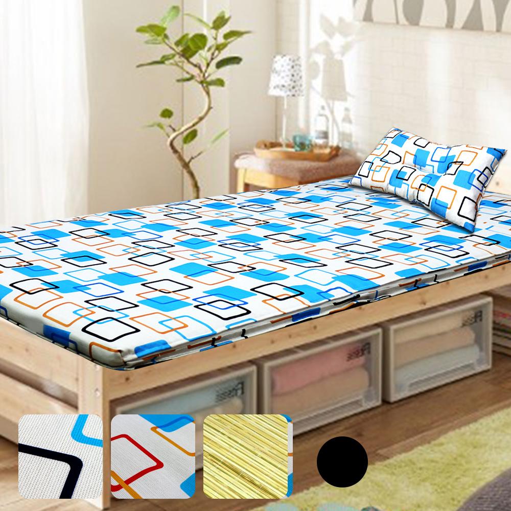 【KOTAS】 冬夏透氣床墊 單人 3尺送記憶枕1顆 單人床墊-黑