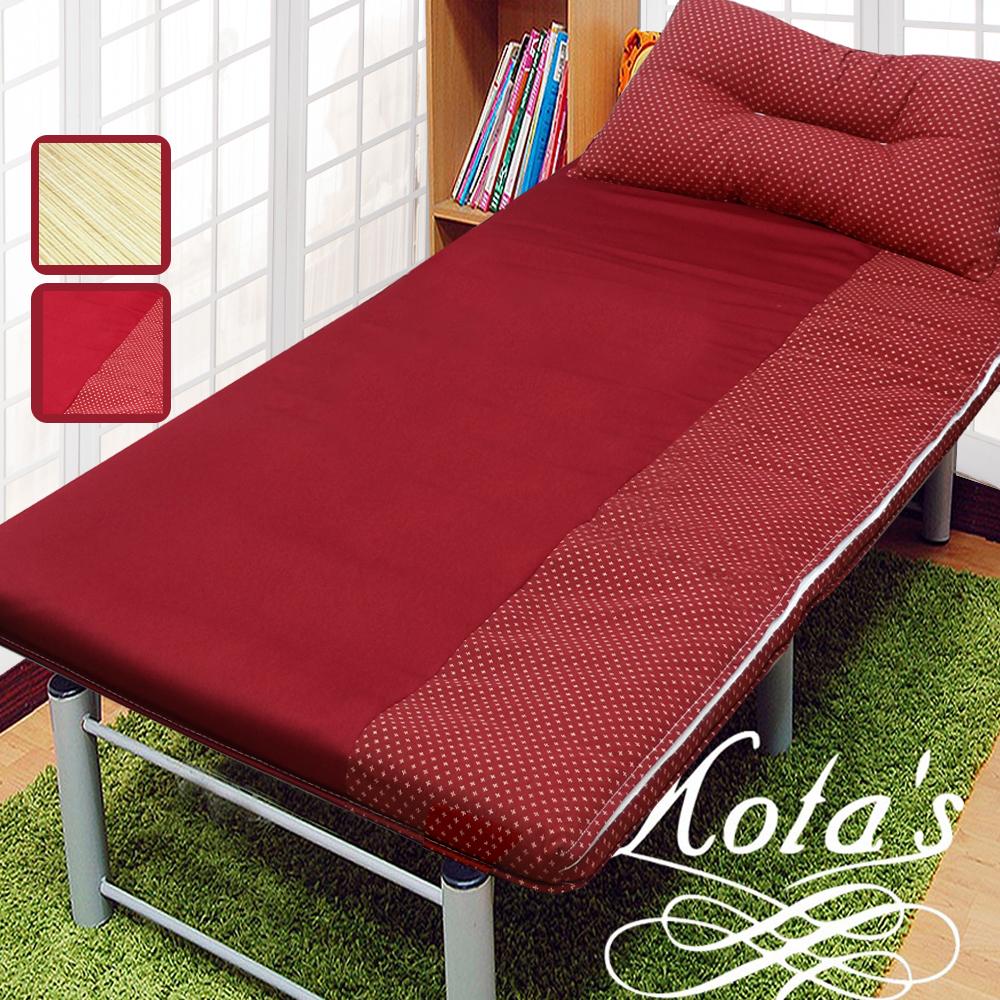 【KOTAS】  冬夏透氣床墊 單人 3尺 送記憶枕1顆 記憶枕 單人床墊 -紅+