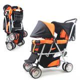 KOOMA 雙人嬰兒推車-活力橘