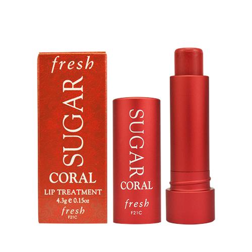 fresh 黃糖潤色護唇膏4.3g #珊瑚橙紅 國際限定版