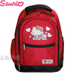Hello Kitty凱蒂貓 愛心多功能雙層後背書包/背包(紅色)