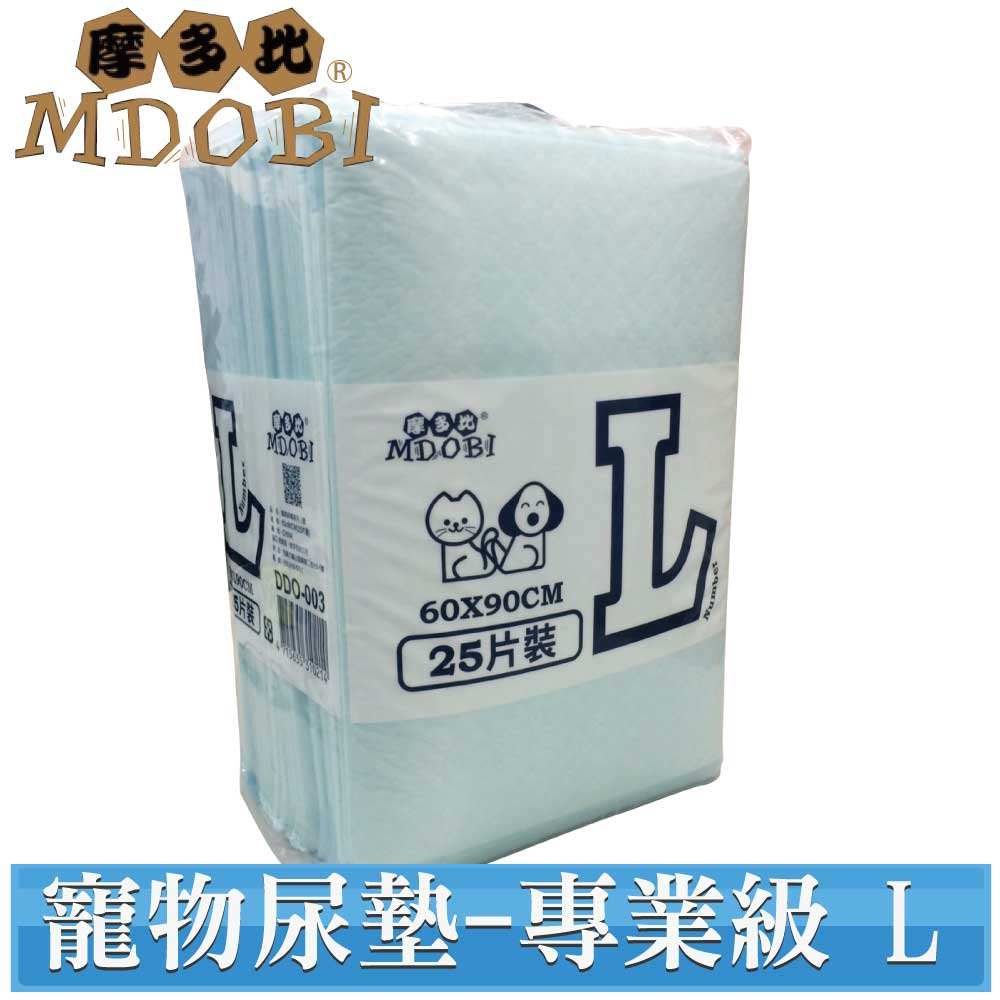 (快速到貨)【MDOBI摩多比】業務用專業級寵物用尿布 L號(60X90-25枚)
