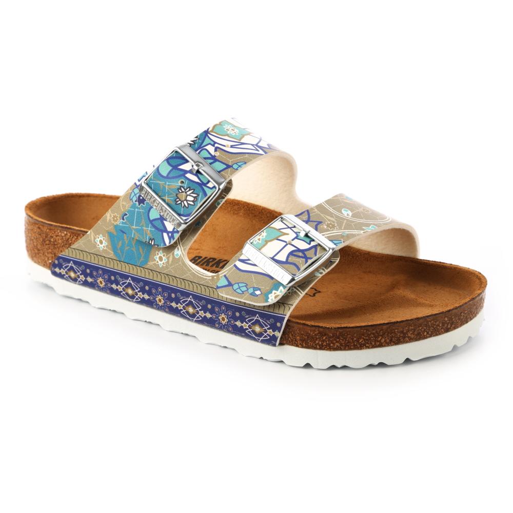 勃肯BIRKENSTOCK 1009802。ARIZONA亞利桑那 經典二條拖鞋(馬賽克灰褐)