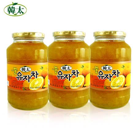 韓太 韓國黃金蜂蜜 柚子茶3入組