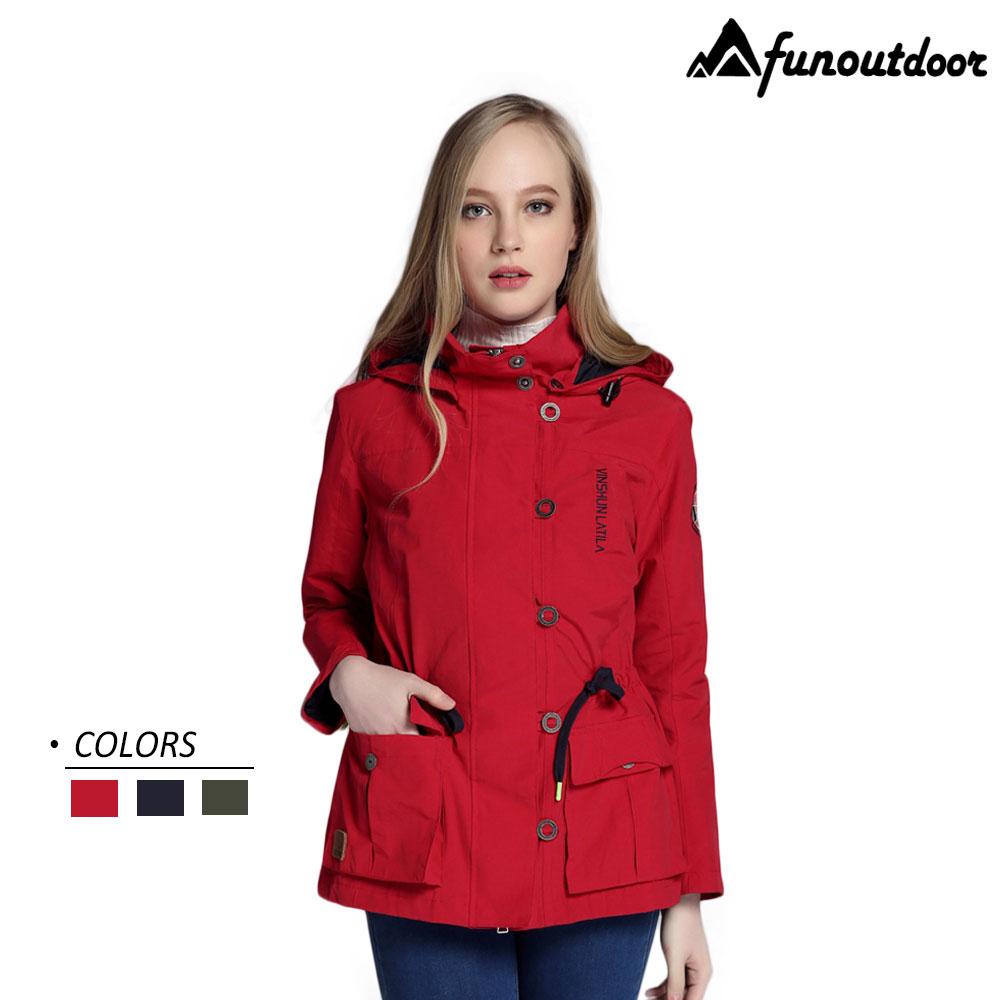 【戶外趣】瑞典款 國際頂級航海服女優雅甜美風防潑水外套(LA1706W 瑞士紅/軍綠/深藍 三色)