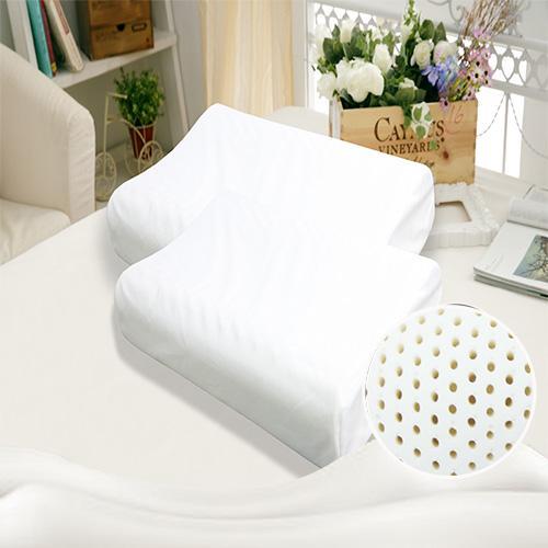 KOTAS 人體工學顆粒透氣型乳膠枕 白