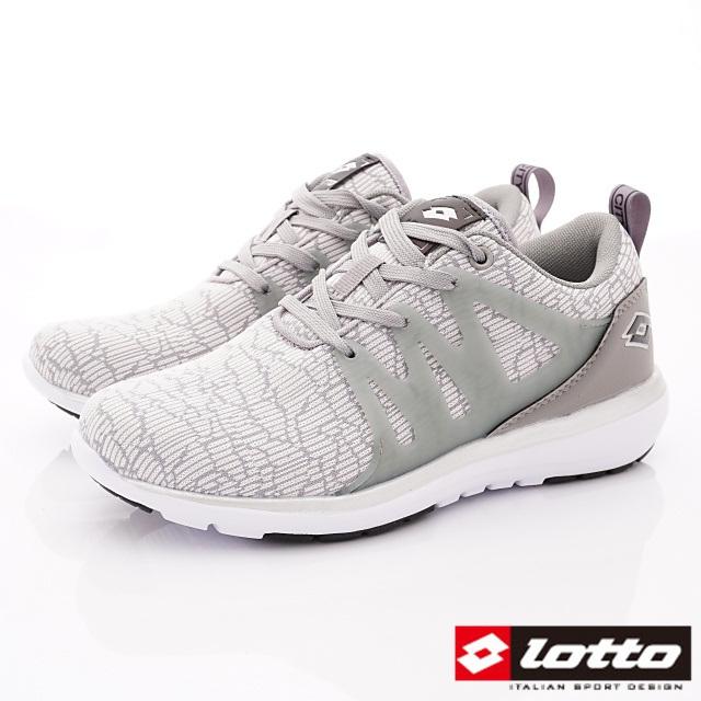 Lotto義大利運動鞋-潮流休閒跑鞋-WR6938灰-23-25.5cm