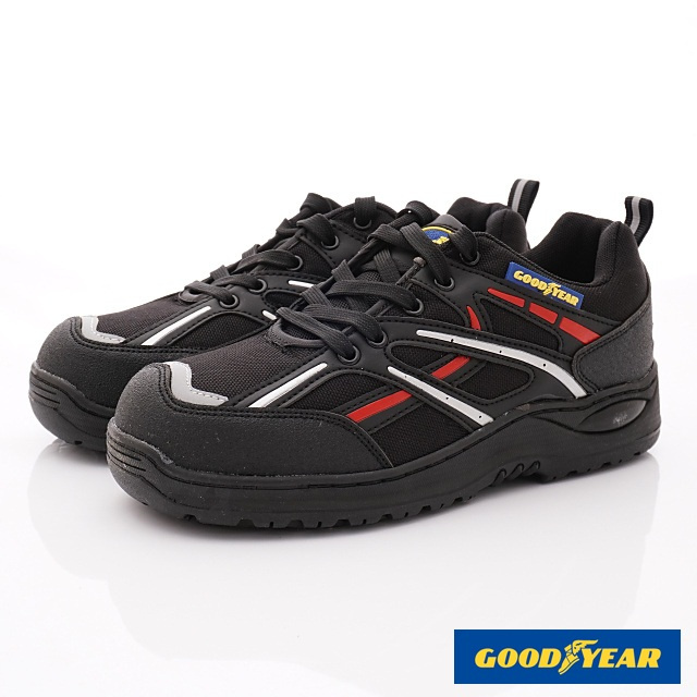 GOODYEAR-半氣墊運動鞋-MX83932黑紅-男段-(25-29cm)