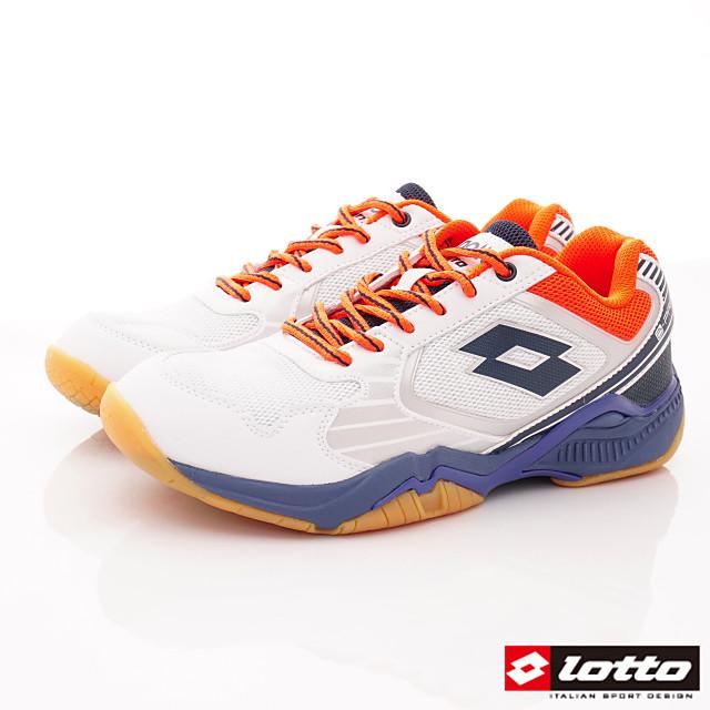 Lotto義大利運動鞋-羽球運動鞋-MI6909白藍-25.5-29cm