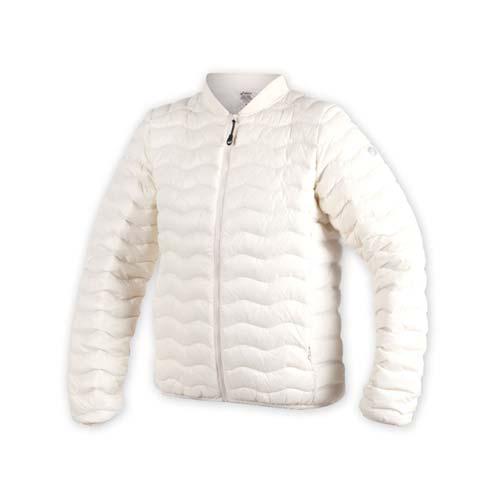(女) ASICS 輕量羽絨外套-防風 保暖 慢跑 防寒 亞瑟士 米白