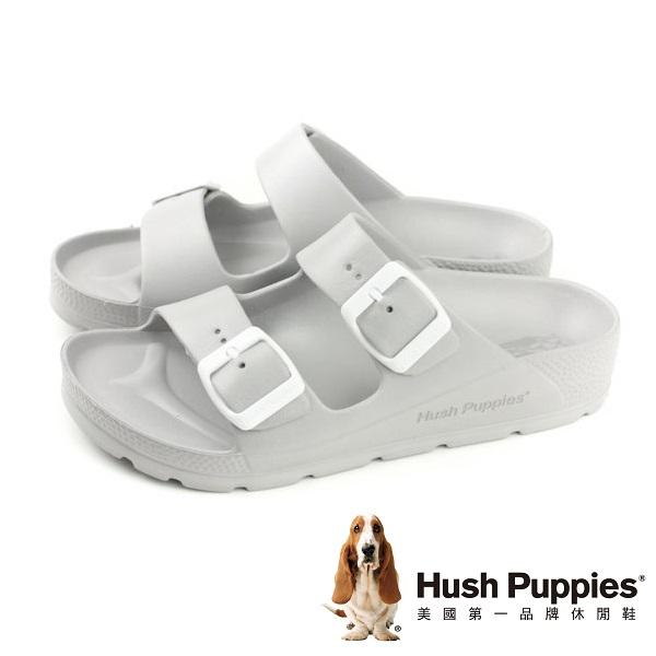 Hush Puppies 輕量休閒增高拖鞋 女鞋-灰(另有粉、深咖、白)