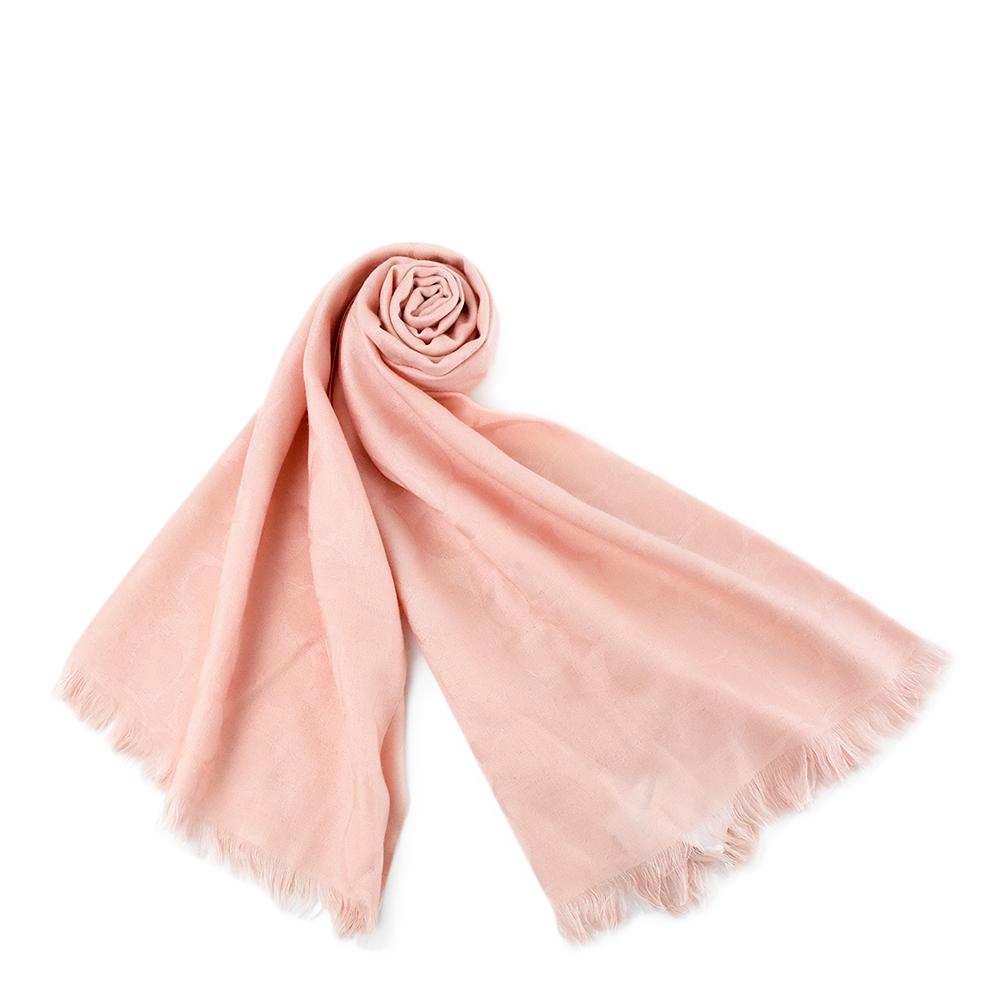 COACH 經典Logo羊毛混絲薄圍巾-粉色