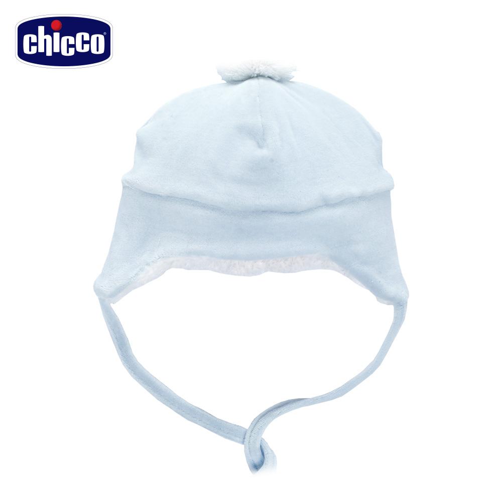 chicco~寶貝熊系列~剪毛絨護耳帽~藍 頭圍36~48公分
